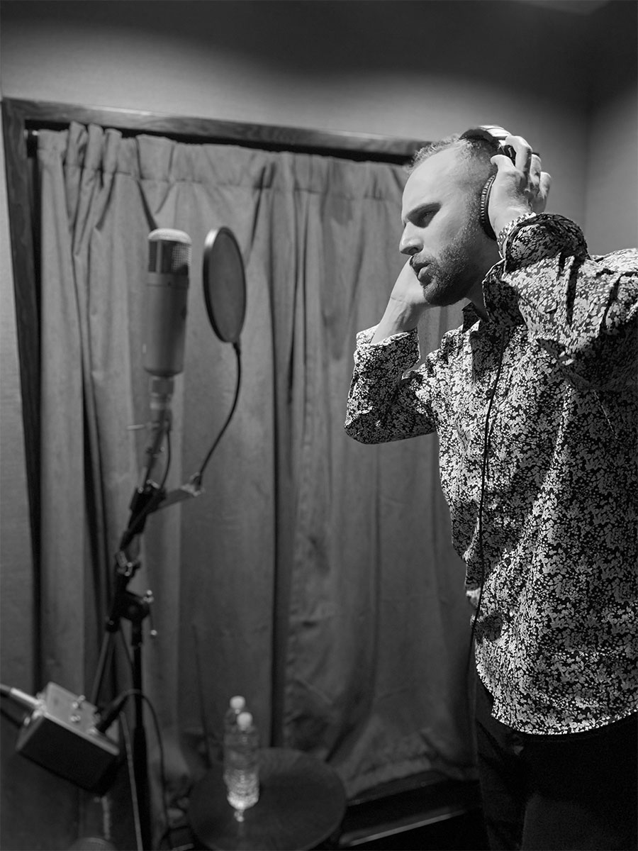 Dan Searl Recording in the Studio